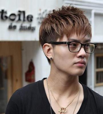 Model rambut pria asia The Nerd Look 21978456
