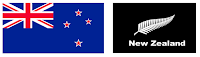 two flags of New Zealand