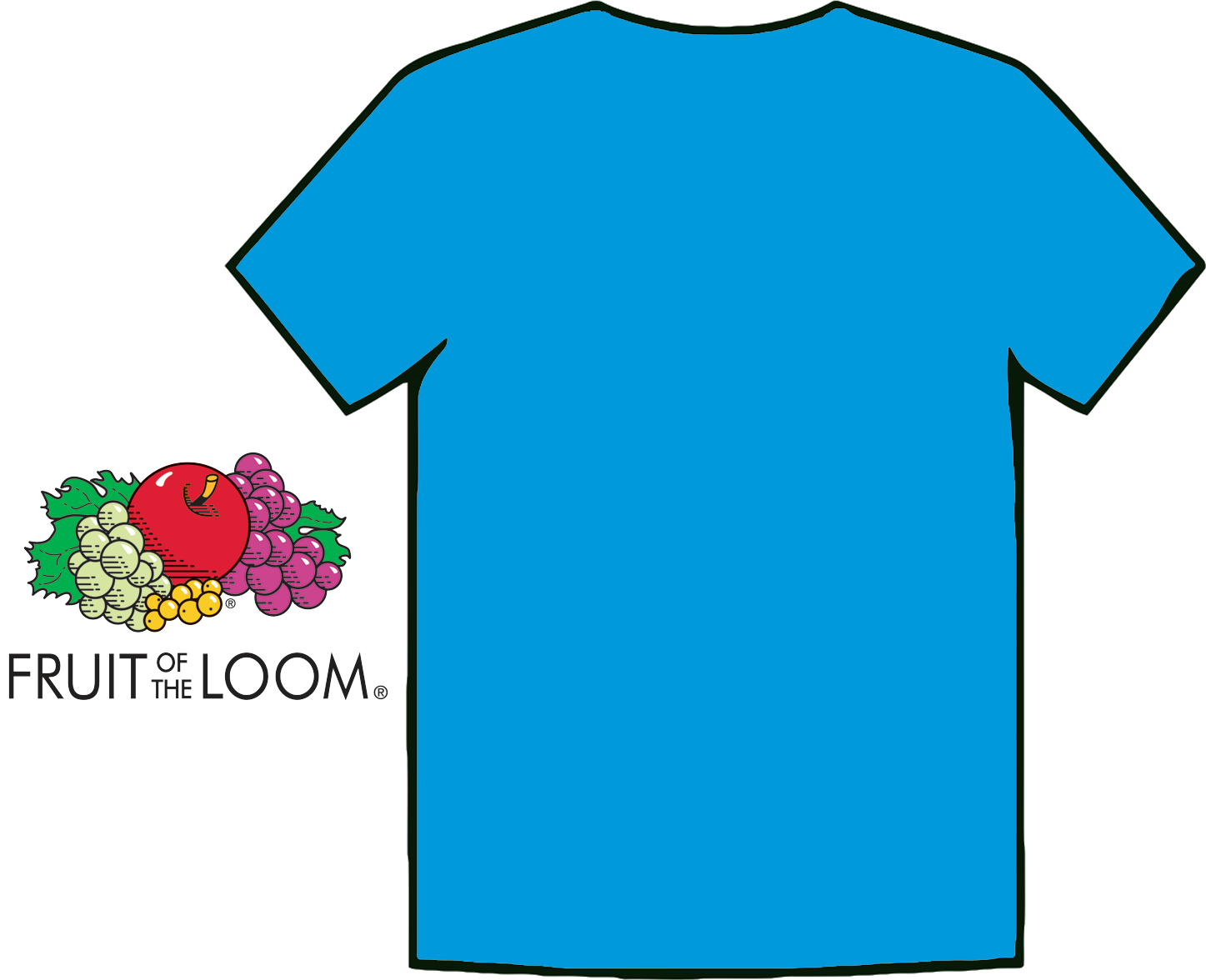 Images for sky blue t shirt front and back fashion 39 s for Blue t shirt template