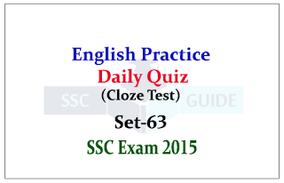 SSC CHSL -Practice English Questions (Cloze Test)