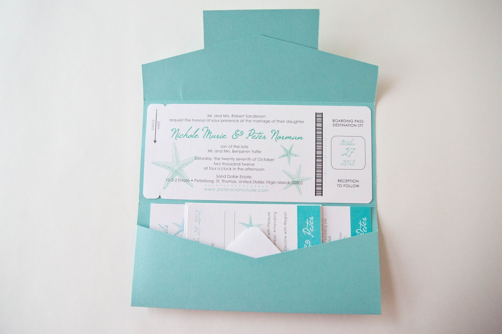 Passport Pocket Style Invitations • Destination Wedding Invitations ...