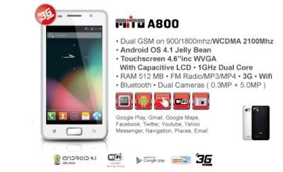 Spesifikasi dan Harga Mito A800