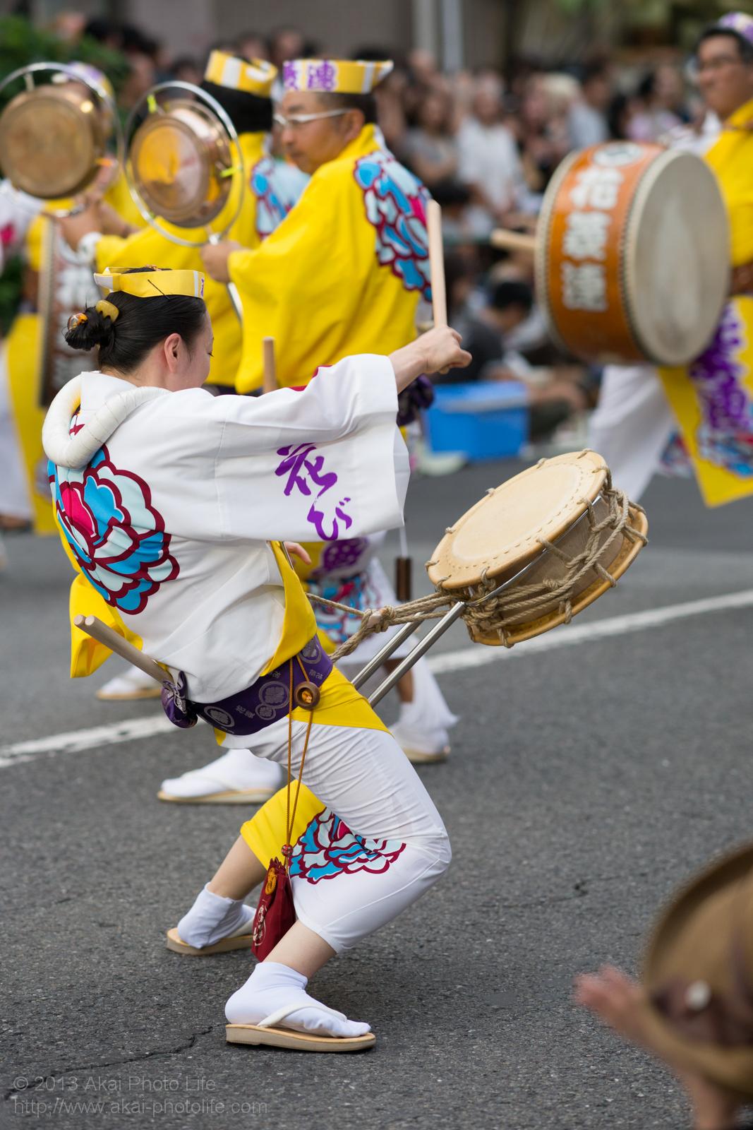 高円寺阿波踊り 花菱連の太鼓の鳴り物