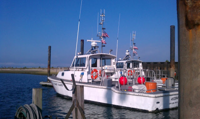 The venerable Coast Guard 41' Utility Boats at Station Eatons Neck. USCG Aux photo by Bob Daraio