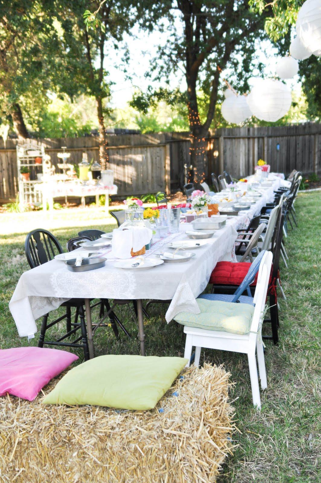 domestic fashionista country backyard birthday party