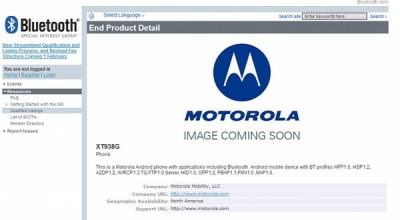 Motorola XT938G Kantongi Sertifikasi Bluetooth SIG