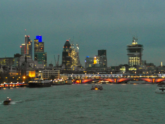 The City of London and Blackfriars Bridge River Thames