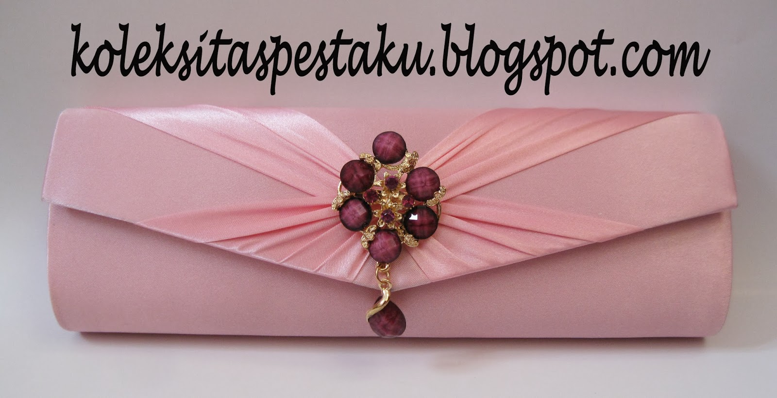 Tas Pesta Clutch Bag Pink Baby Cantik