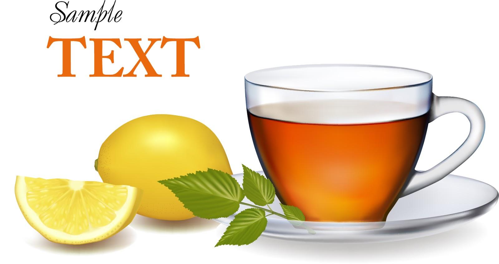 レモンティー nature realistic teacup イラスト素材