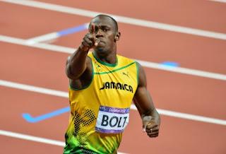 usain bolt running olympic champion london