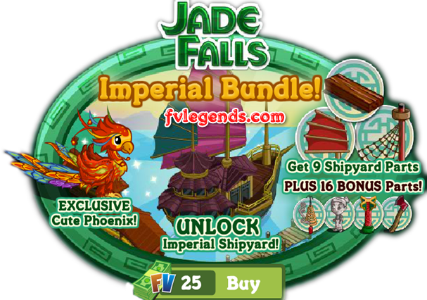 FarmVille Jade Falls Imperial Bundle Package