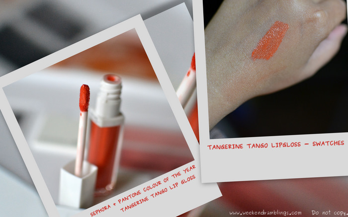 sephora pantone universe colour of the year collection makeup swatches beauty blog 2012 tangerine tango lip gloss