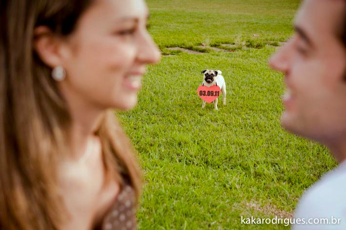 casar chic ensaio de save the date   pug