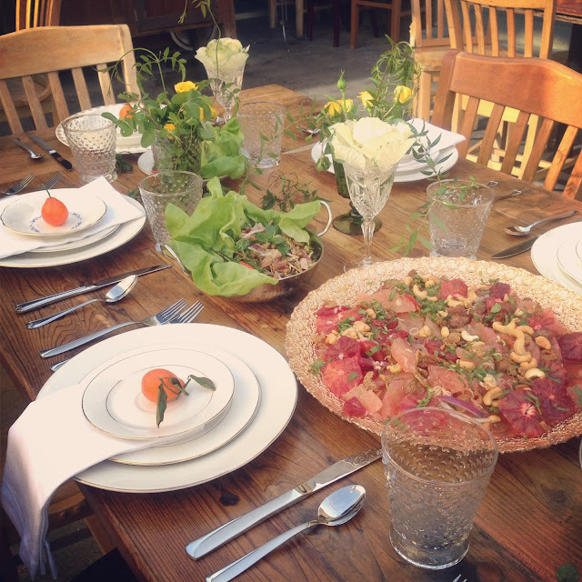 chandara creative food styling blood orange salad