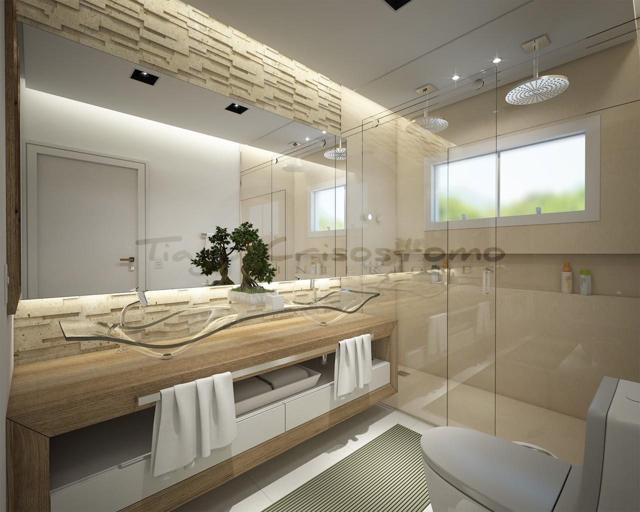 bancada amadeirada cubas de vidro lindas e dois chuveiros!! Um luxo #515935 1280x1024 Banheiro Bancada De Vidro