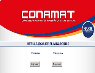CONAMAT resultados Final 2014 15 de Noviembre