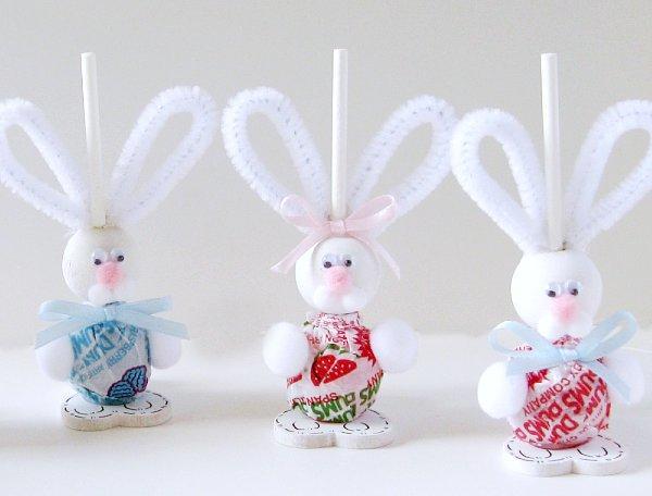 Chupetines de conejo para Pascua