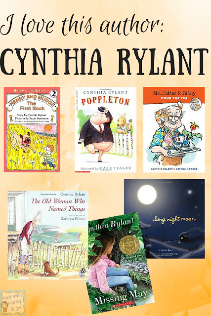One of my favorite children's book authors is Cynthia Rylant.