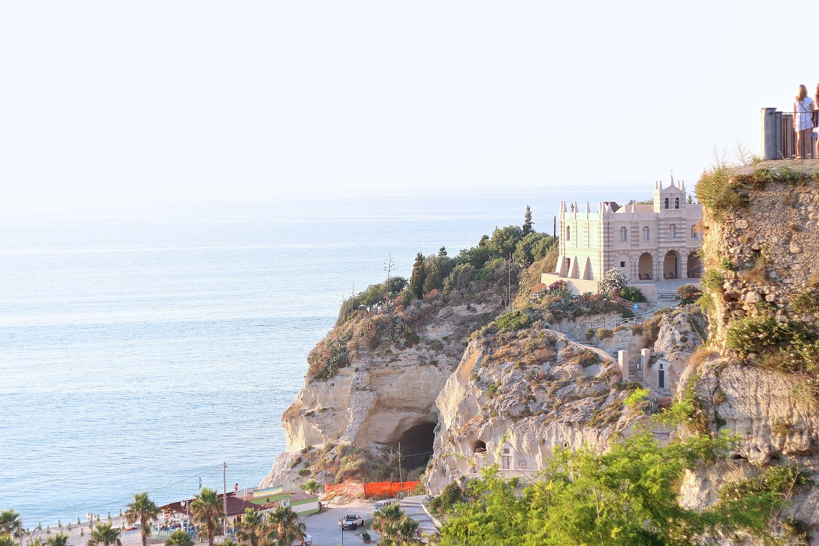 the view from the top of the town in tropea italy