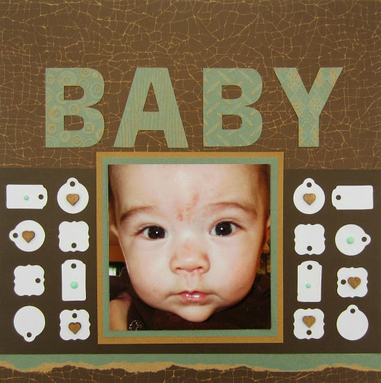Tim Holtz Kraft Core'dinations Cardstock Baby Layout