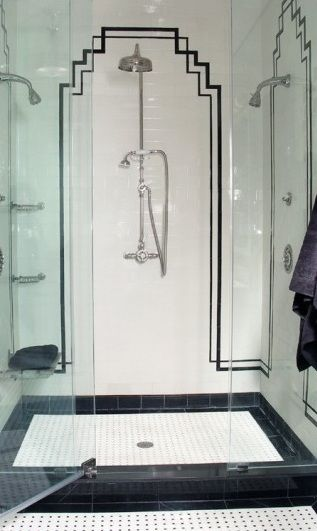 Tiffany Leigh Interior Design Art Deco Showers