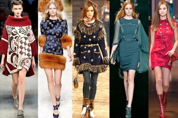 Модные трикотажные платья зимнего сезона, Трикотажные платья на каждый день