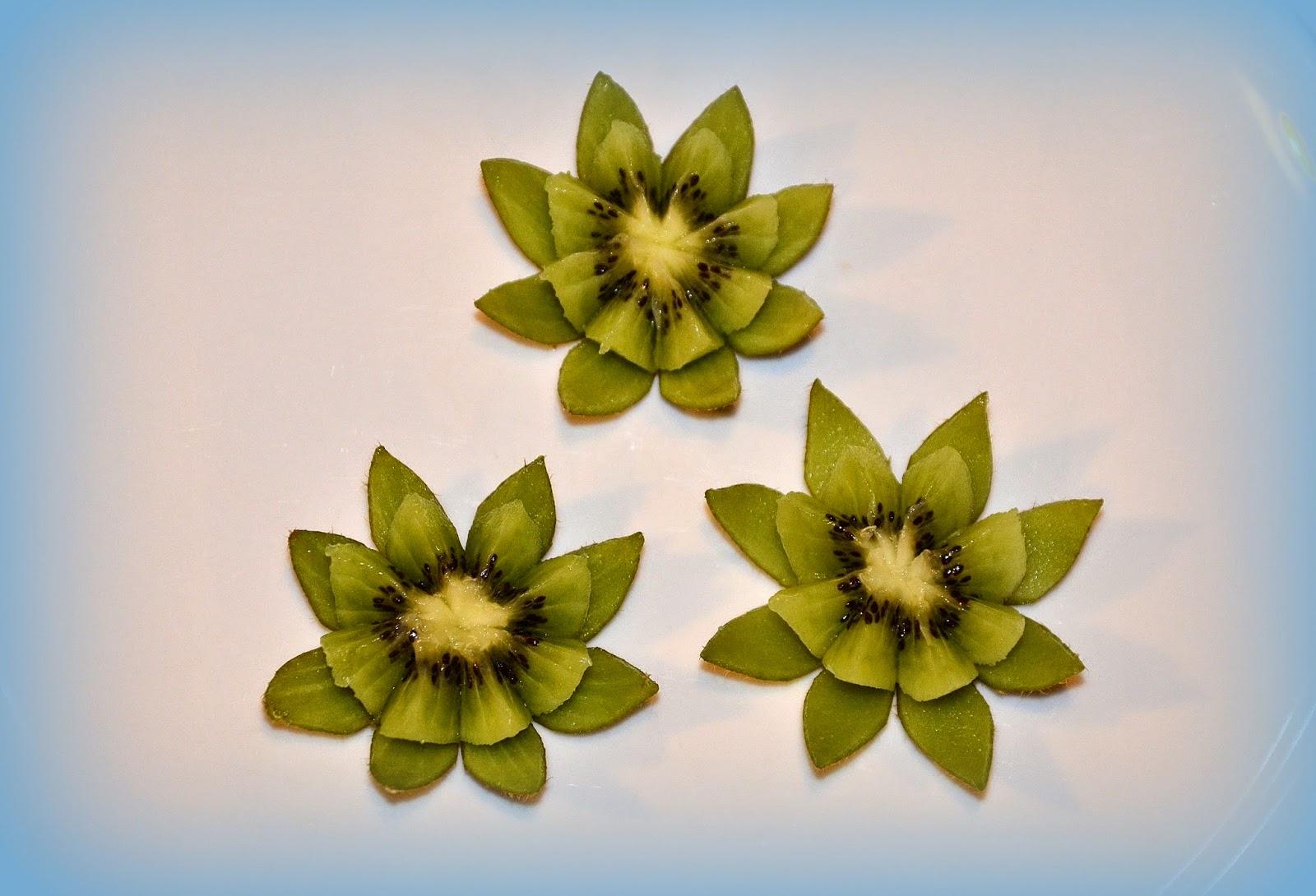 Как из киви сделать цветочек