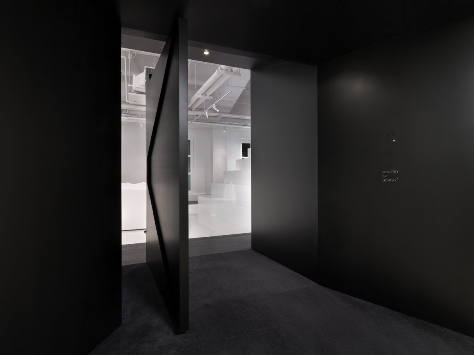 Door in barcode studio office in singapore based by ministry of design