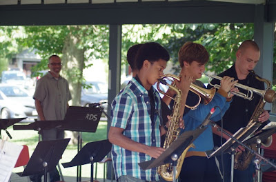 A student ensemble performance at the Kincardine Summer Music Festival's Jazz Camp