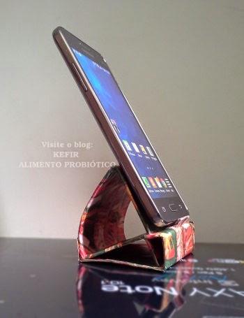 suporte para colocar o celular  na mesa