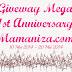 Giveaway Mega 1st Anniversary Mamaniza.com | Giveaway