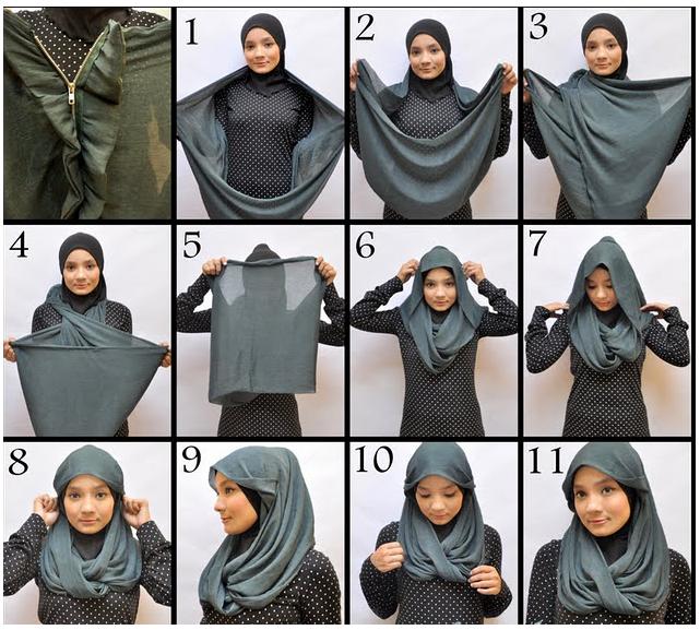 Cara Memakai Hijab dan Jilbab Tudung