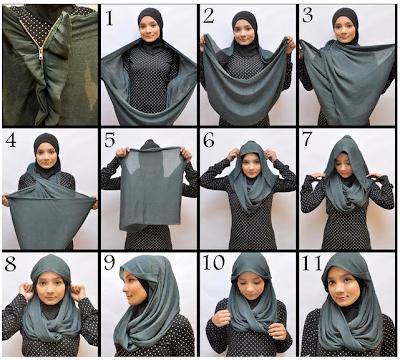 Tutorial Terkait Cara Memakai Hijab dan Jilbab Tudung: Hijab, Jilbab