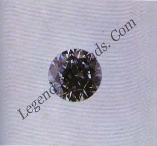 Round brilliant of colorless YAG, 2.10 ct.