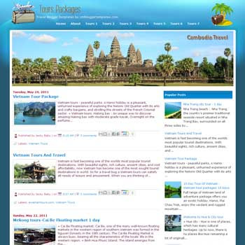 Tours Packages blogger template. template for travel blog