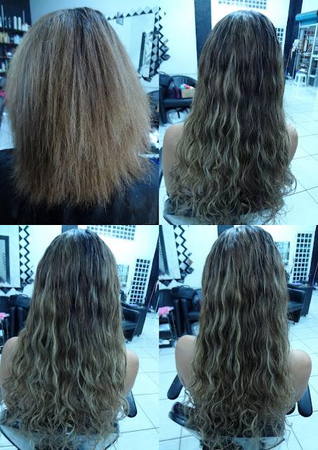 mega hair loiro ondulado