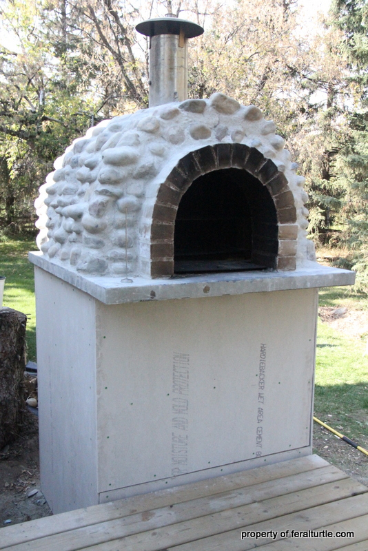 Perfect The Base Of The Outdoor Oven Was Covered With Cement Board With  Pizza Oven Door