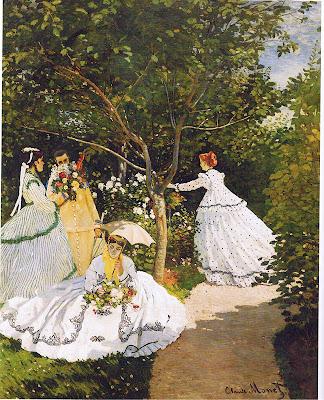 رسم النساء في الحديقة