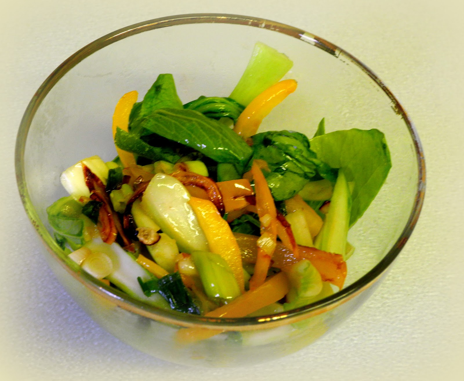 BIZZY BAKES: Bok Choy and Yellow Pepper