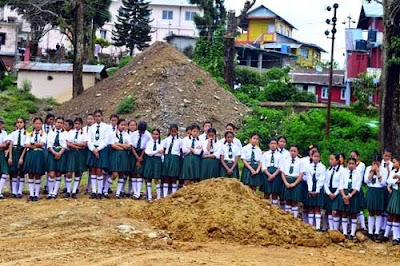 mountain of muds behind kalimpong girls high school