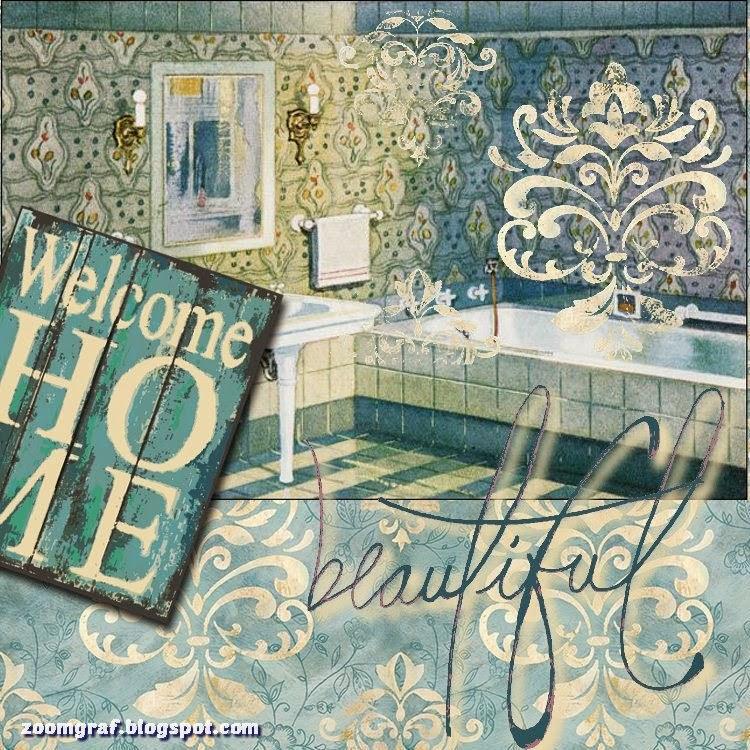 Laminas Baño Vintage:laminas,decoupage,vintage,retro,baño,le bain,imprimirscrap