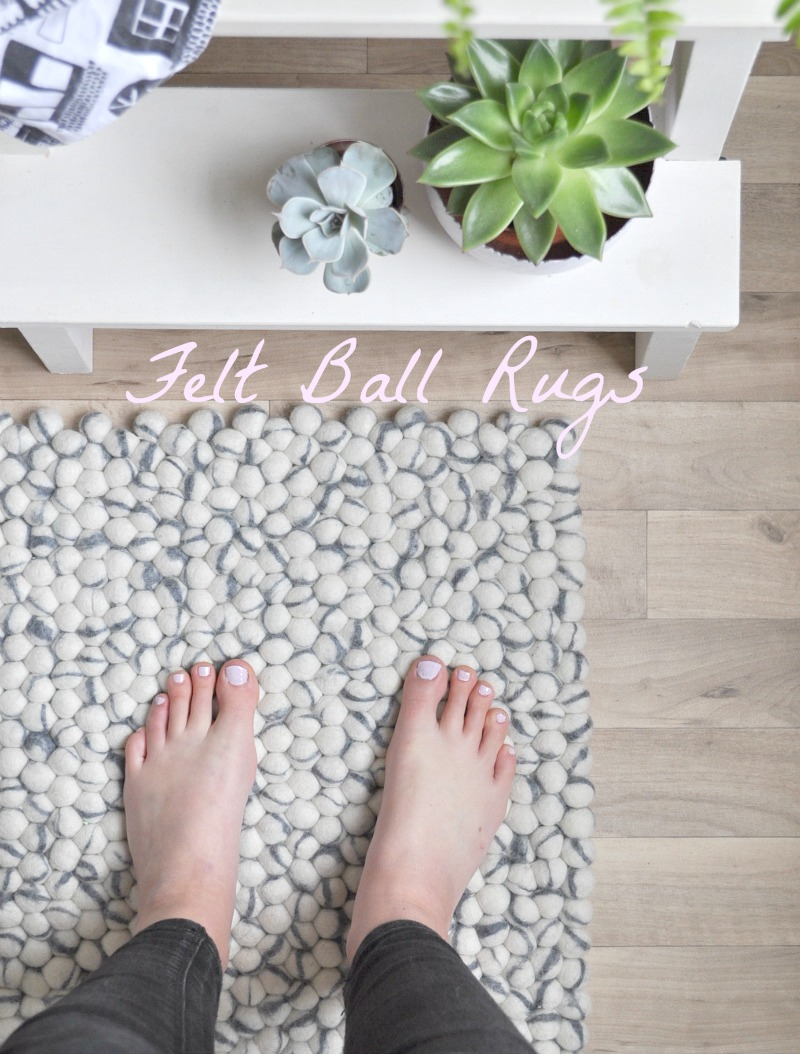fairtrade felt ball rugs