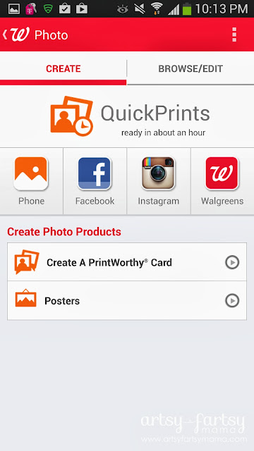 How to Print Instagram Photos at artsyfartsymama.com #cbias #WalgreensApp