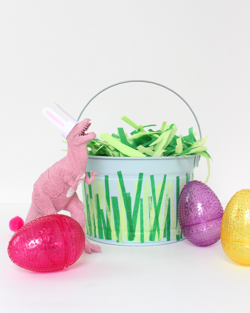 Love how simple and easy this Easter bucket craft is! I could also see myself using this as a toy bucket once Easter is over too.