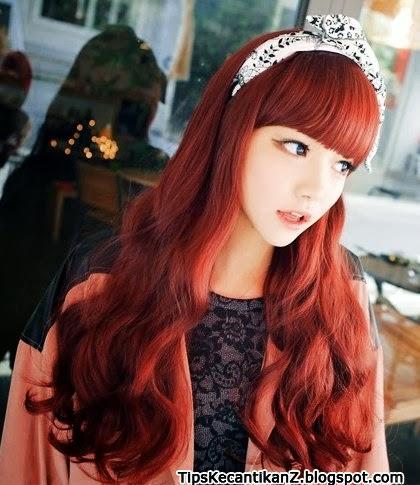 Gaya rambut panjang wanita korea 2014