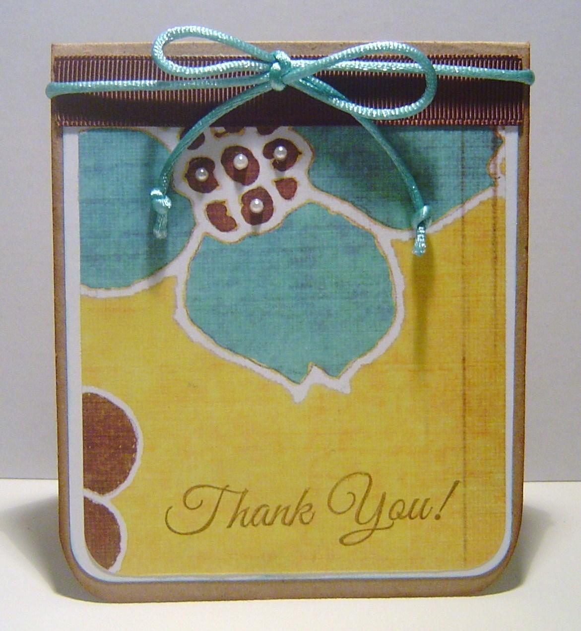 U Card Cricutjunkie: Thank U ...