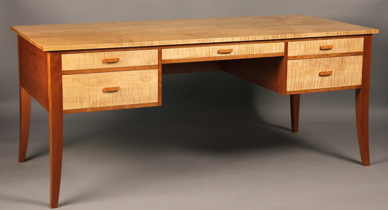 Curly Maple Desk Cherry Desk Tiger Maple