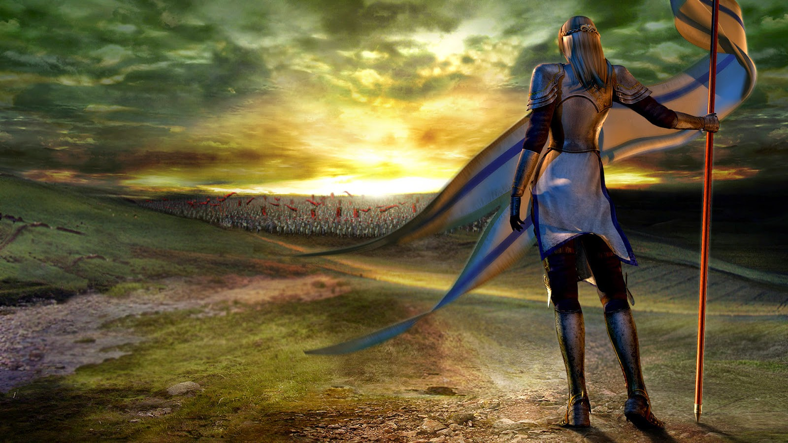 Warrior Women With Army 3D Wallpaper