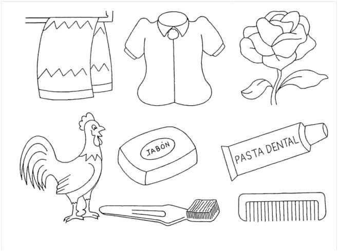 Utiles de aseo personal para colorear imagui for Imagenes de utiles de aseo