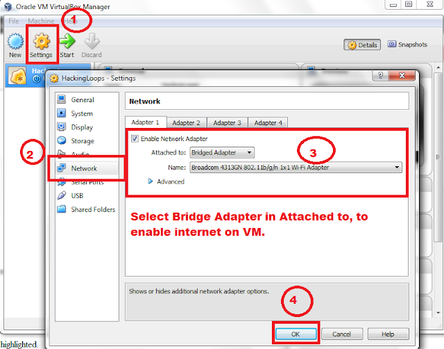 Configure Internet Settings on VM
